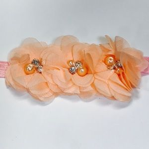 Other - Peach Flower Headband